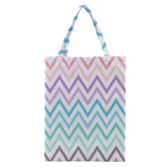 Colorful Wavy Lines Classic Tote Bag by Brittlevirginclothing