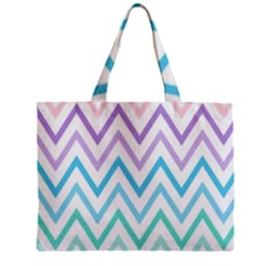 Colorful Wavy Lines Zipper Mini Tote Bag by Brittlevirginclothing