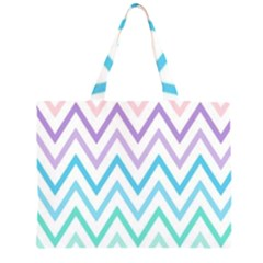Colorful Wavy Lines Zipper Large Tote Bag by Brittlevirginclothing