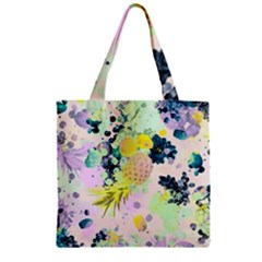 Paint Zipper Grocery Tote Bag by Brittlevirginclothing