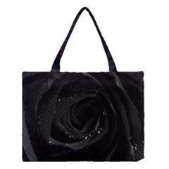 Black Rose Medium Tote Bag by Brittlevirginclothing