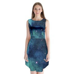 Space Sleeveless Chiffon Dress   by Brittlevirginclothing