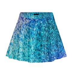 Rainbow Sparkles Mini Flare Skirt by Brittlevirginclothing