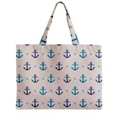 Sailor Anchor Zipper Mini Tote Bag by Brittlevirginclothing