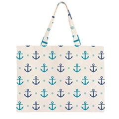 Sailor Anchor Zipper Large Tote Bag by Brittlevirginclothing