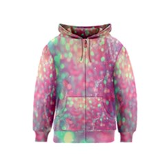 Colorful Sparkles Kids  Zipper Hoodie by Brittlevirginclothing
