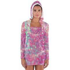 Colorful Sparkles Women s Long Sleeve Hooded T Shirt by Brittlevirginclothing