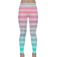 Colorful Vertical Lines Classic Yoga Leggings by Brittlevirginclothing