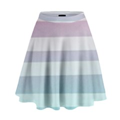 Colorful Vertical Lines High Waist Skirt by Brittlevirginclothing