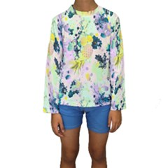 Paint Kids  Long Sleeve Swimwear by Brittlevirginclothing