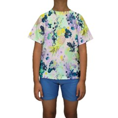 Paint Kids  Short Sleeve Swimwear by Brittlevirginclothing