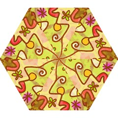 Abstract Faces Abstract Spiral Mini Folding Umbrellas by Amaryn4rt