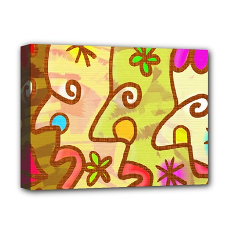 Abstract Faces Abstract Spiral Deluxe Canvas 16  X 12   by Amaryn4rt