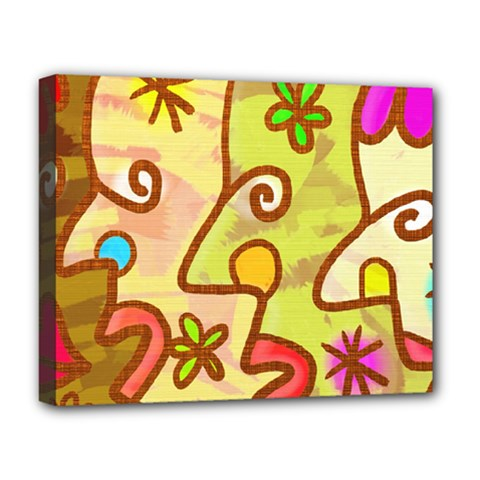 Abstract Faces Abstract Spiral Deluxe Canvas 20  X 16   by Amaryn4rt