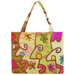Abstract Faces Abstract Spiral Mini Tote Bag by Amaryn4rt