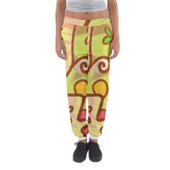 Abstract Faces Abstract Spiral Women s Jogger Sweatpants by Amaryn4rt