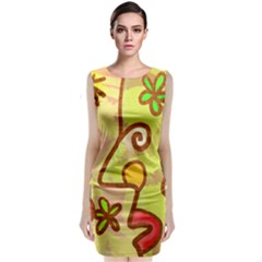 Abstract Faces Abstract Spiral Classic Sleeveless Midi Dress by Amaryn4rt