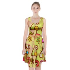 Abstract Faces Abstract Spiral Racerback Midi Dress by Amaryn4rt