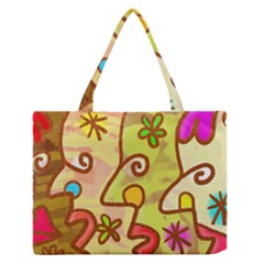 Abstract Faces Abstract Spiral Medium Zipper Tote Bag by Amaryn4rt