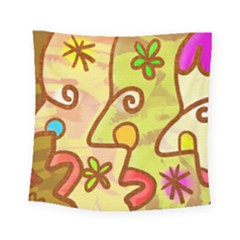 Abstract Faces Abstract Spiral Square Tapestry (small) by Amaryn4rt
