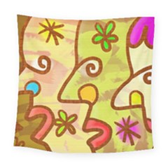 Abstract Faces Abstract Spiral Square Tapestry (large) by Amaryn4rt