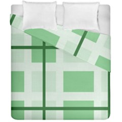Abstract Green Squares Background Duvet Cover Double Side (california King Size) by Amaryn4rt