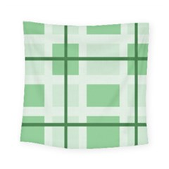 Abstract Green Squares Background Square Tapestry (small)