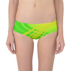 Abstract Green Yellow Background Classic Bikini Bottoms