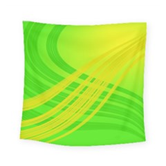 Abstract Green Yellow Background Square Tapestry (small)