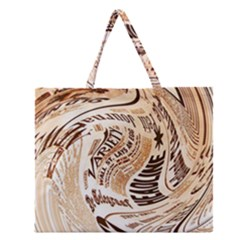Abstract Newspaper Background Zipper Large Tote Bag