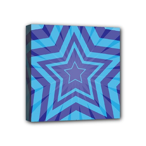 Abstract Starburst Blue Star Mini Canvas 4  X 4  by Amaryn4rt