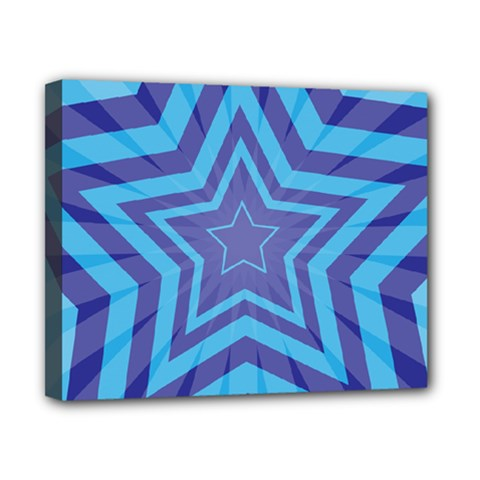 Abstract Starburst Blue Star Canvas 10  X 8  by Amaryn4rt