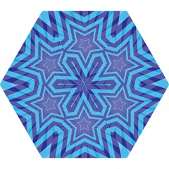 Abstract Starburst Blue Star Mini Folding Umbrellas by Amaryn4rt