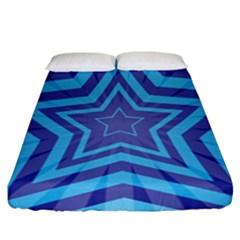 Abstract Starburst Blue Star Fitted Sheet (california King Size) by Amaryn4rt