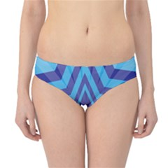 Abstract Starburst Blue Star Hipster Bikini Bottoms by Amaryn4rt