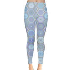 Bee Hive Background Leggings  by Amaryn4rt