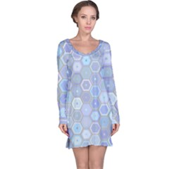 Bee Hive Background Long Sleeve Nightdress by Amaryn4rt