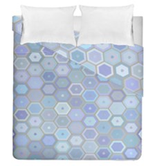 Bee Hive Background Duvet Cover Double Side (queen Size) by Amaryn4rt