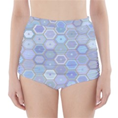 Bee Hive Background High-waisted Bikini Bottoms by Amaryn4rt