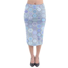 Bee Hive Background Midi Pencil Skirt