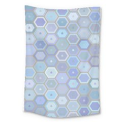 Bee Hive Background Large Tapestry by Amaryn4rt