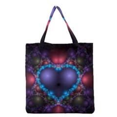 Blue Heart Grocery Tote Bag by Amaryn4rt