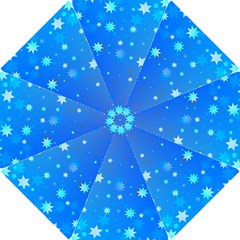 Blue Hot Pattern Blue Star Background Hook Handle Umbrellas (small)