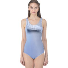Blue Star Background One Piece Swimsuit by Amaryn4rt