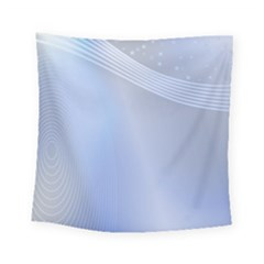 Blue Star Background Square Tapestry (small)