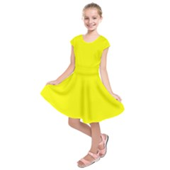 Yellow Color Kids  Short Sleeve Dress