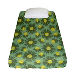 Another Supporting Tulip Flower Floral Yellow Gray Green Fitted Sheet (single Size)