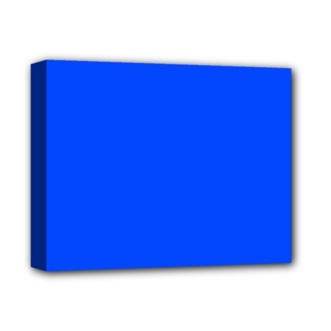 Blue Color Deluxe Canvas 14  X 11  by Jojostore