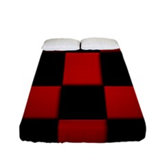 Board Red Black Fitted Sheet (full/ Double Size) by Jojostore