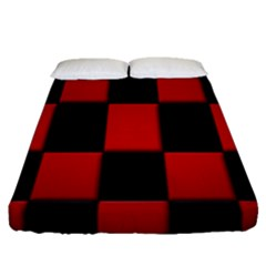 Board Red Black Fitted Sheet (queen Size)